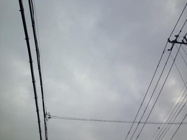 今日の東京の空模様です。