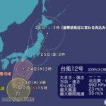 台風12号続報