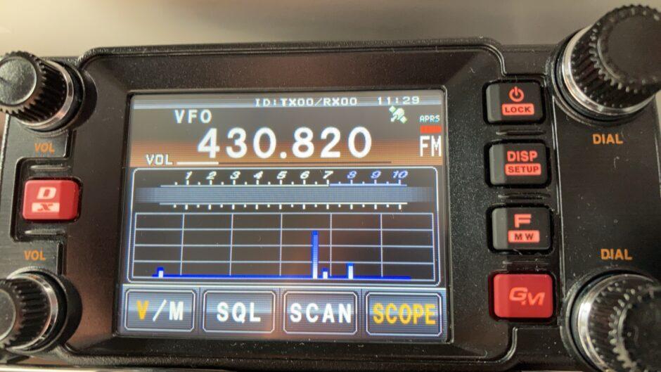 FTM-400XDのバンドスコープ